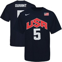 Nike Kevin Durant USA Basketball 2012 Replica Jersey T-Shirt - Navy Blue