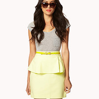 Essential Peplum Pencil Skirt