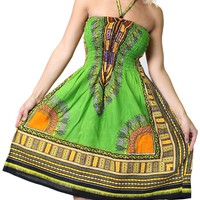 One-size-fits-all Tube Dress/Coverup with African Print