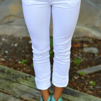 What A Girl Wants Pants: White | Hope&#x27;s