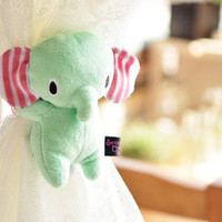 Sentimental Circus San-X Elephant Plush Cute Curtain Buckle Decoration