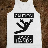 Caution: Jazz Hands - Sweet American Tanks - Skreened T-shirts, Organic Shirts, Hoodies, Kids Tees, Baby One-Pieces and Tote Bags