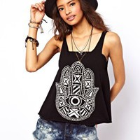ASOS Cami with Henna Applique Hand at asos.com