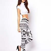 ASOS Leggings in Aztec Tribal Print at asos.com