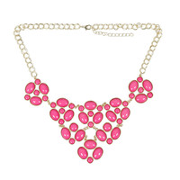 Bundle Monster Womens Fashion Bubble Bib Statement Stone Collar Design Necklace
