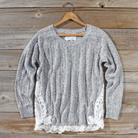 Hazy Stratus Lace Sweater, Sweet Bohemian Sweaters