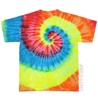 Glowing Rainbow Spiral Tie Dye T Shirt on Sale for $16.95 at The Hippie Shop