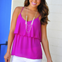 Tiering Up Tank Top: African Violet | Hope&#x27;s