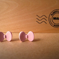 Bow Earring Studs Pink Mini Bow by Bitsofbling on Etsy