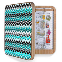 DENY Designs Home Accessories | Madart Inc. Turquoise Black White Chevron BlingBox