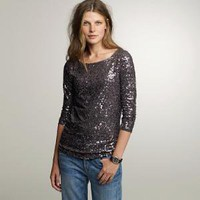 Drapey sequin tee - J.Crew