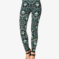 Multicolored Tribal Print Leggings | FOREVER 21 - 2036080254