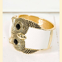 Give a Hoot Bracelet                    - Francesca's Collections