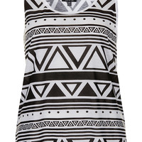 Mono Aztec Vest - New In - Topshop USA