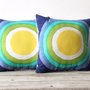 Vintage Vera Neumann Graphic Sun Pillow / Insert (LAST PAIR)