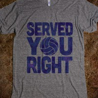 Served You Right (Blue) - Served You Right - Skreened T-shirts, Organic Shirts, Hoodies, Kids Tees, Baby One-Pieces and Tote Bags