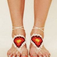 Aya Omura Crochet Sun Foot Tie at Free People Clothing Boutique