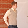 Sweater Vest Vintage Mens Unisex  V-Neck Knit  X Small to Small Fitted Gray Wool Homespunsociety