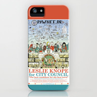 Leslie Knope for City Council - Parks and Recreation Dept. iPhone & iPod Case by Jasey Crowl