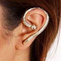 Gold Snake Wrap Ear Cuff