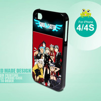 10432 Soul Eater Cartoon Network - iPhone 4 / 4s Black Case