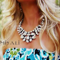 Minali ® - Bohemian Chic Jewelry / Vamil - Crystal  Silk Royal Necklace