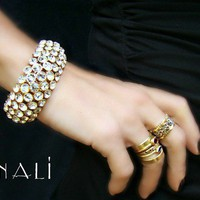 Minali ® - Bohemian Chic Jewelry / Vanca - Swarovski Crystal and Gold Bracelet by Minali