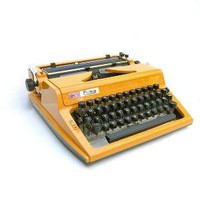 Erika Daro Typewriter Bright Yellow Metal by FoundVintageStyle