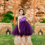 Beautiful Plum Purple Hydrangea tutu dress- flower girl dress- birthday dress- choose your dress color - size 6-12
