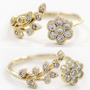Open Flower Rhinestone Ring