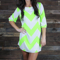 Chevron Highlighter Dress