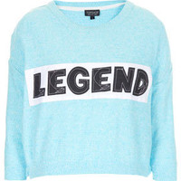 Knitted Legend Crop Sweat - Knitwear  - Clothing