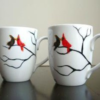 Love Birds Coffee Mug on Etsy