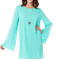 Maura Shift Dress in Mint - ShopSosie.com