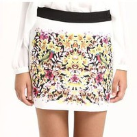 Jungle Chiffon Mini Skirt