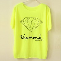 Fluorescent Color Diamond Tshirt from FloralKissing
