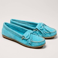 Minnetonka Kilty Suede Moccasin | American Eagle Outfitters