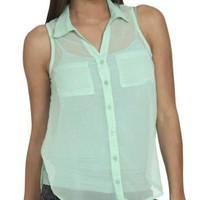 Amazon.com: Wet Seal Women's Sleeveless Polka Dot Shirt: Clothing