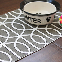PetMat Placemat for your Dog or Cat's Bowl by toocutecustomcrafts