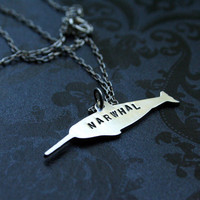 Narwhal Sterling Silver Necklace by bLuGrnDesign on Etsy