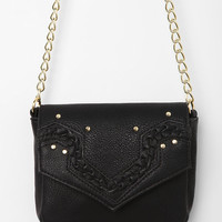 Ecote Braided Envelope Crossbody Bag