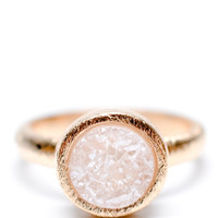 Geo Drusy Ring in Blush | LEIF