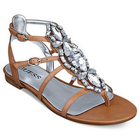 GUESS Women&#x27;s Shoes, Viorella Jeweled Sandals - Shoes - Macy&#x27;s