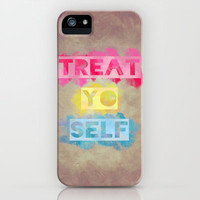 TREAT.YO.SELF iPhone & iPod Case by Galaxy Eyes