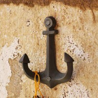 cast iron anchor coat rack hook