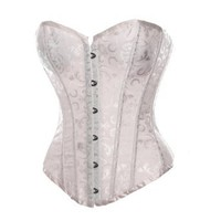 Amazon.com: Bslingerie Womens Waist Cincher Boned Corset With Brocade: Clothing
