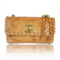 Chanel Vintage Vache Leather Logo Flap Bag