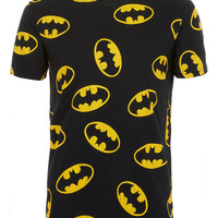 BLACK ALL OVER BATMAN T-SHIRT - Printed T-shirts - Men's T-shirts & Vests - Clothing - TOPMAN