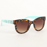 With Love From CA Tortoise Mint Floral Sunglasses at PacSun.com