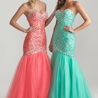 Night Moves 6726 Strapless Mermaid Dress